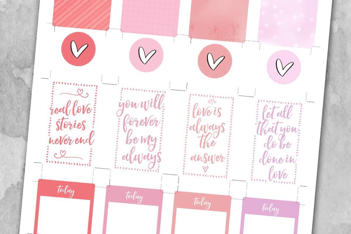 Valentine S Day Planner Stickers