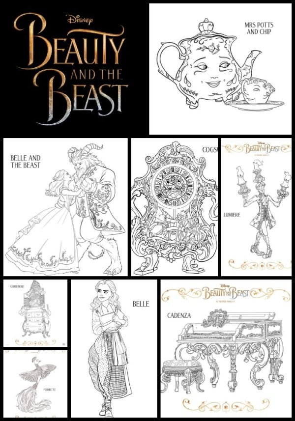 beauty and the beast coloring page # 22