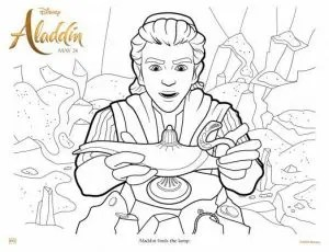 Free Printable Aladdin Coloring Pages And Activity Sheets