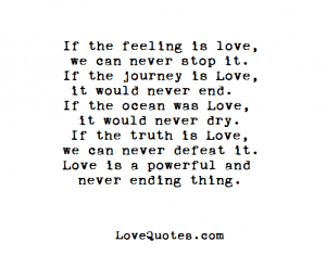 If The Feeling Is Love