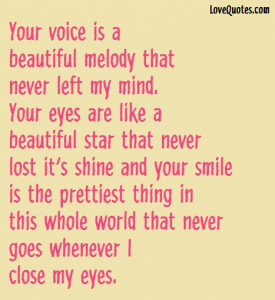 Your Voice Is A Beautiful Melody