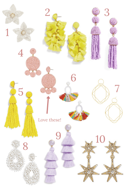 statement earrings for spring