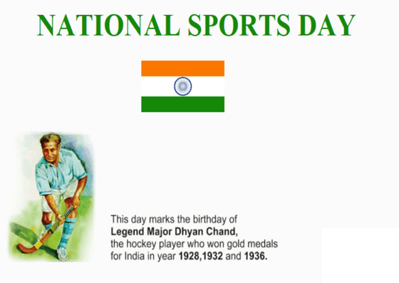 Images for national sports day status, National Sports Day, National Sports Day 2019 in India