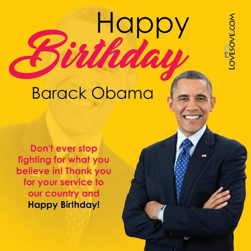 Barack Obama Birthday Wishes Barack Obama Quotes Status Images
