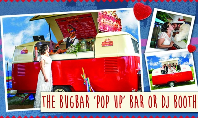 VW Campervan bar, to hire for weddings Sussex and Brighton