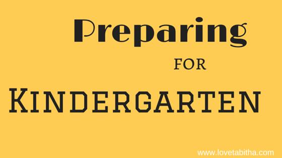 preparing for kindergarten