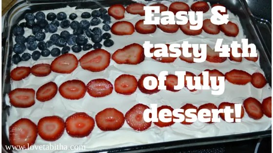 Easy & tasty 4th of July dessert!