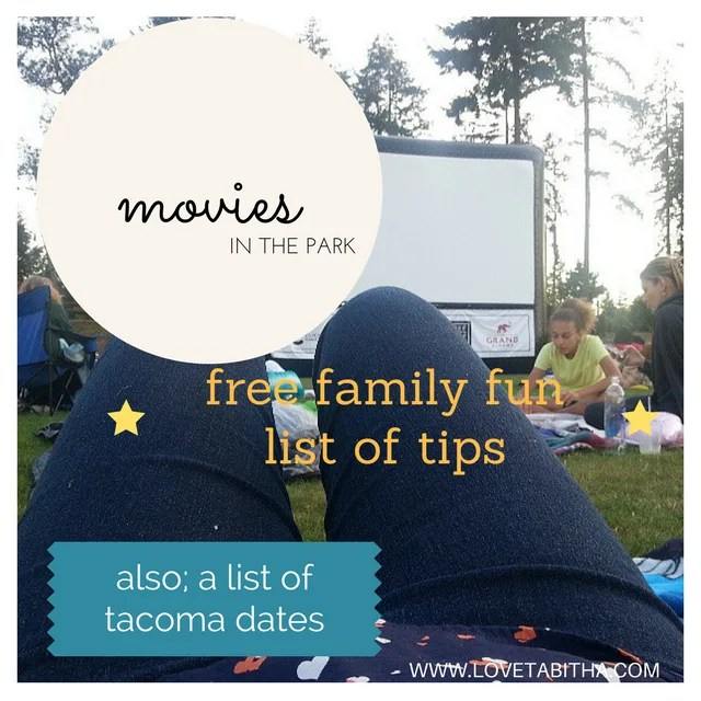 movies in the park tips