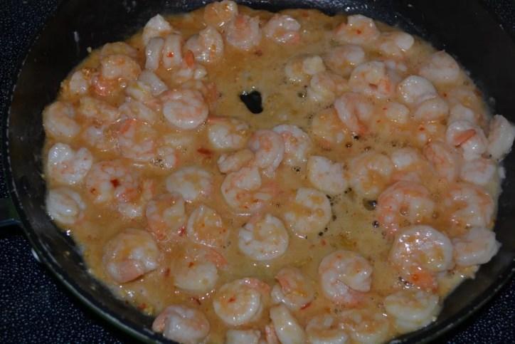 garlic shrimp stir fry with a kick