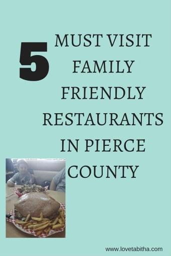 must visit family friendly restaurants in pierce county