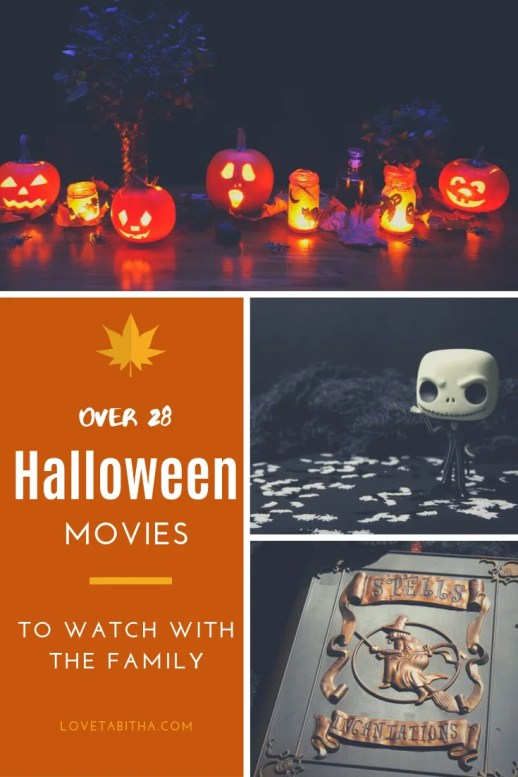 Halloween Movies to watch with the family! Lots of great titles.