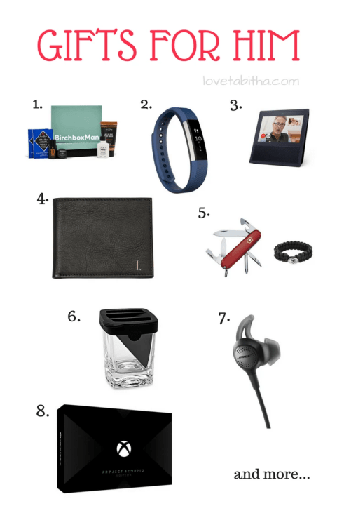 holiday gift guide gift ideas for him