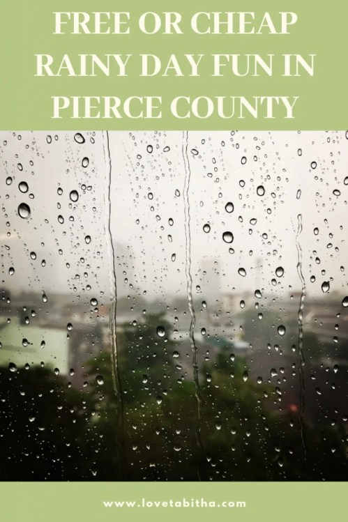 A list of ideas that won't cost you much to let the kids burn some energy off during the rainy season in Pierce County.