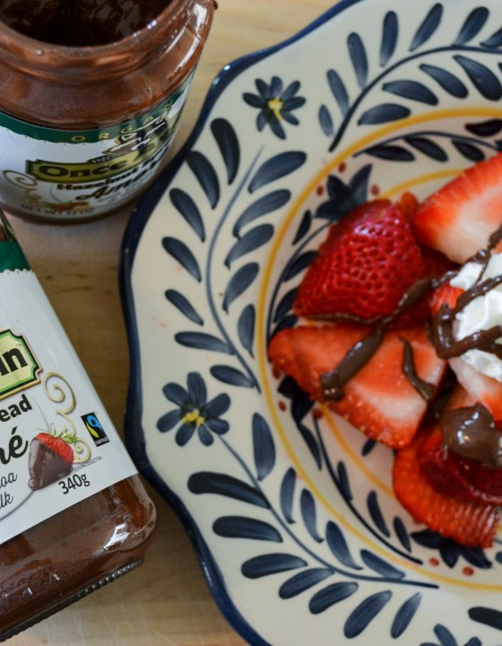Once Again Amoré Hazelnut Spread makes the perfect after school snack!