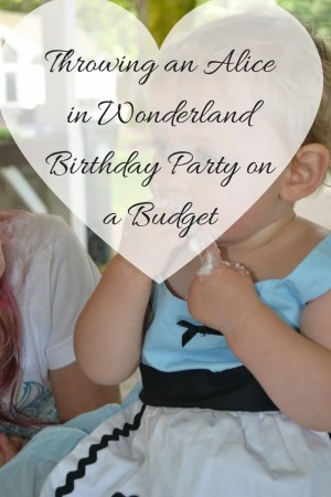 Throwing an Alice in Wonderland or Onderland Birthday Party on a Budget