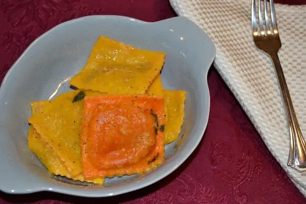 Pumpkin Ravioli Recipe that is perfect as a side or main. It's sweet and salty.