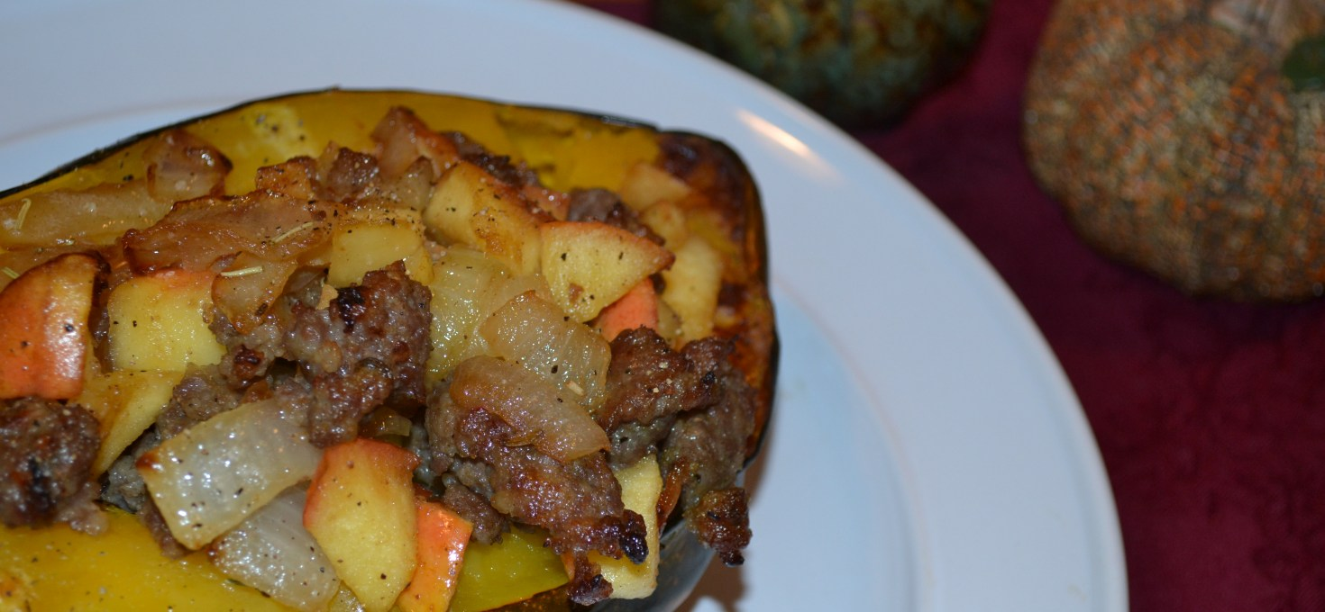 Sausage Stuffed Acorn Squash