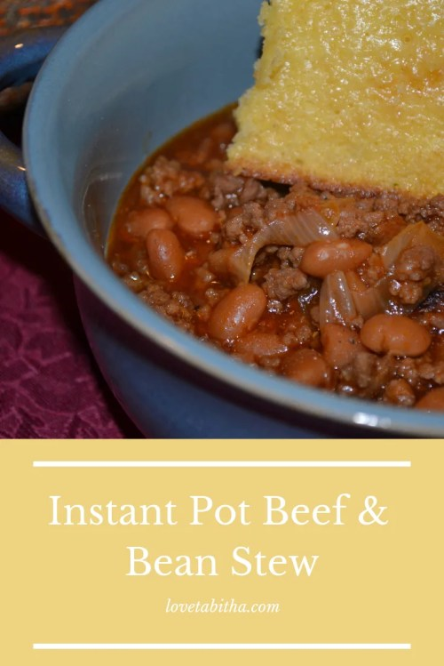 Quick, easy and tasty dinner! Instant Pot Beef & Bean Stew