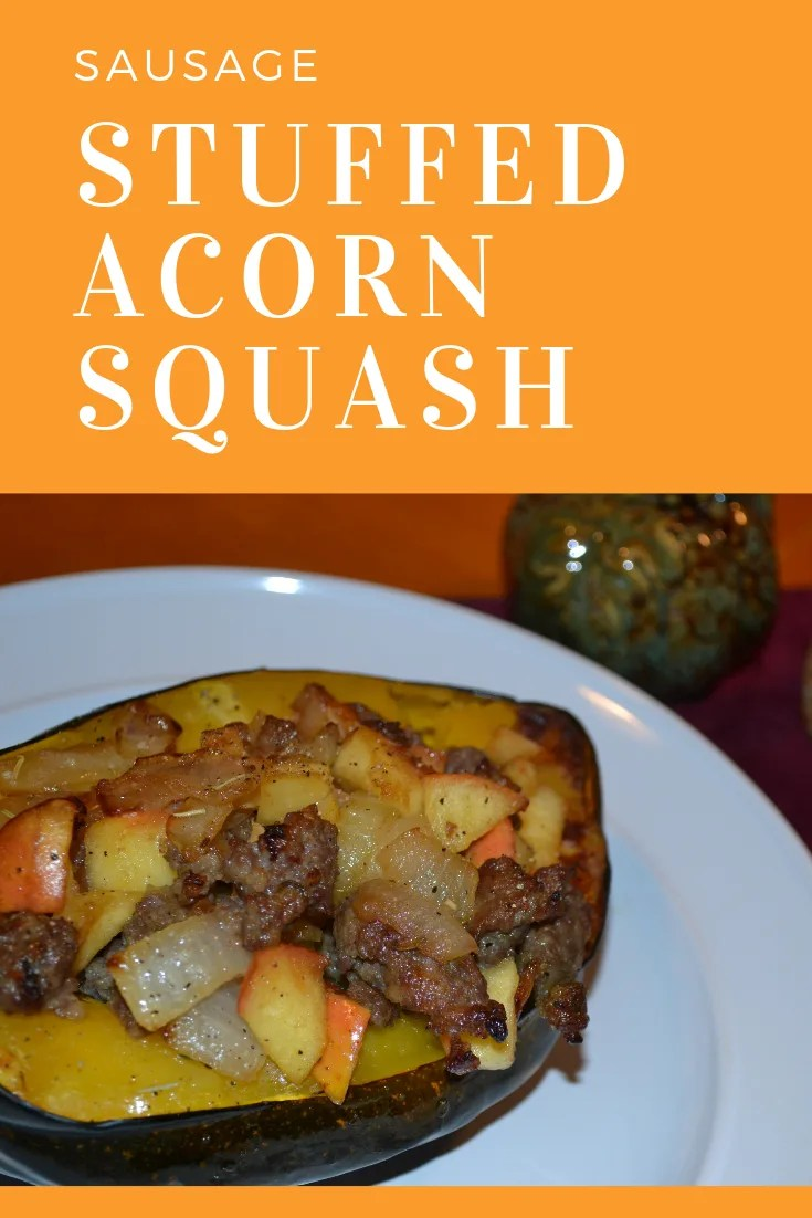 Stuffed Acorn Squash with sausage, apples and caramelized onions for dinner and they were DELICIOUS! Sweet and salty! They were very easy to make as well and perfect for that Fall night.