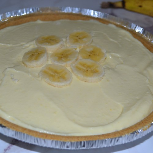 Recipe for an easy and quick banana cream pie