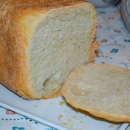 Recipe for English Muffin Bread in the bread machine. Very easy and taste great!