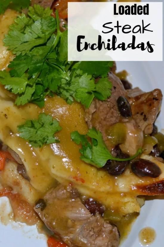 Recipe for Steak Enchiladas that are loaded with flavor and ingredients.