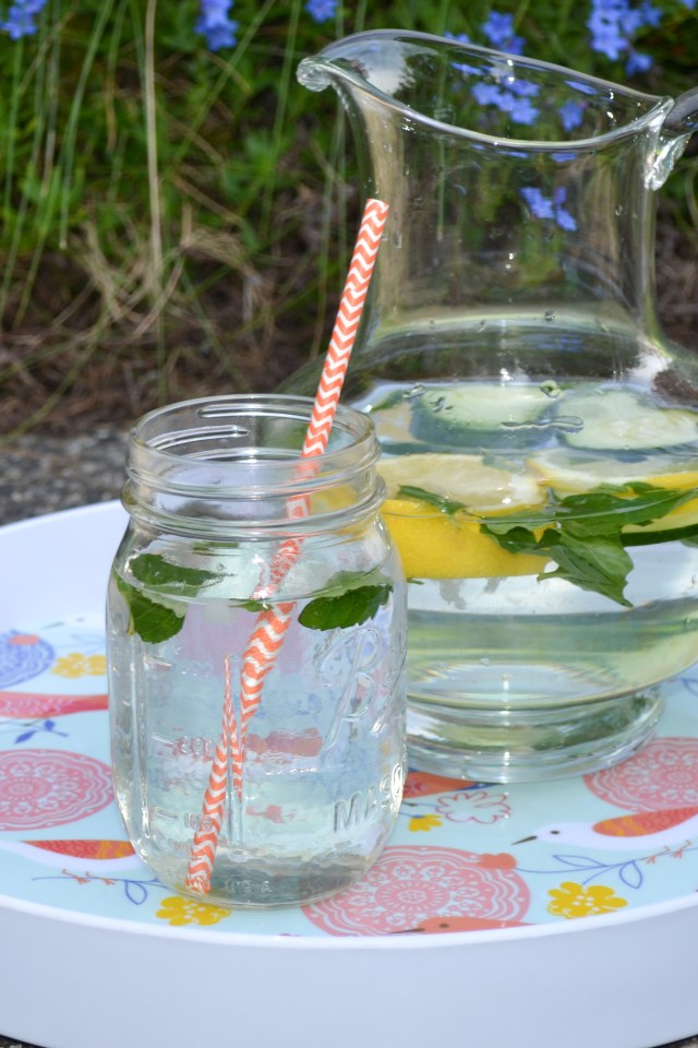 Make a pitcher of healthy flavored water.