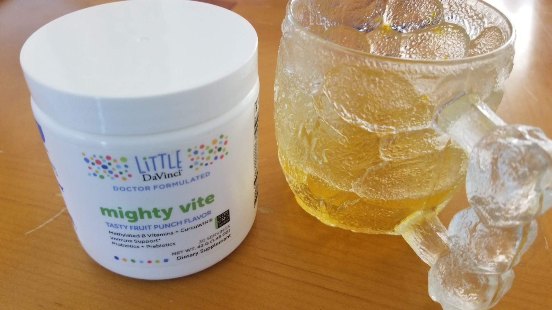 Little DaVinci Mighty Vite is a ready-to-eat powder multivitamin that addresses immune support, digestion support and inflammation support.