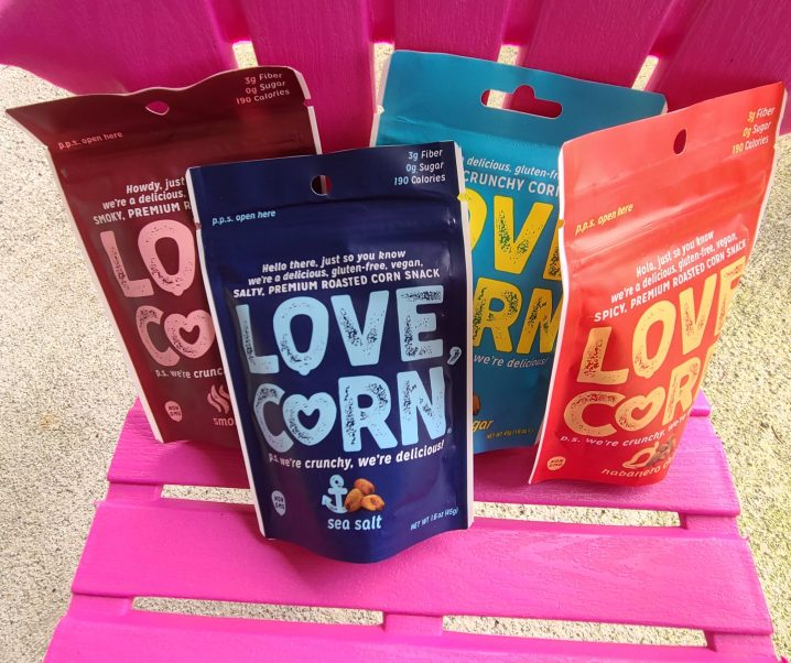 Enjoy a healthy crunchy snack with LOVE CORN!