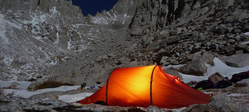 Camping a Upper Boyscout Lake