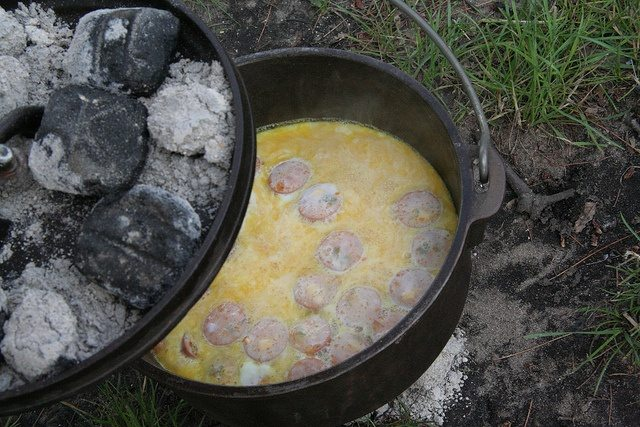 cooking, dutch oven, camping