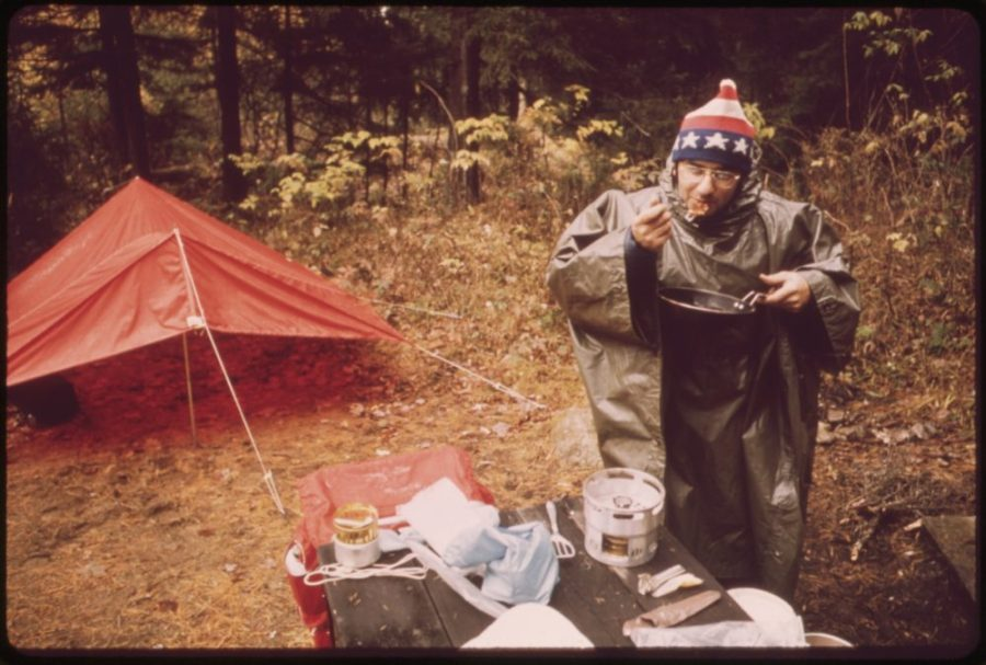 camping, food, recipes, forest pancakes