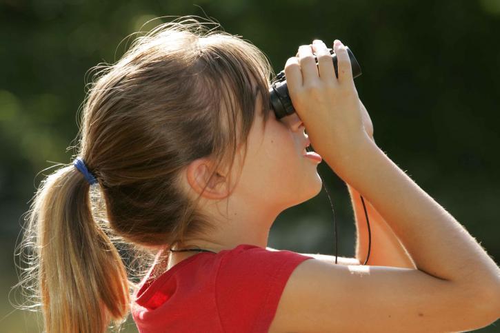 instill, hiking, children, kids, instill hiking, girl, outdoors, binoculars