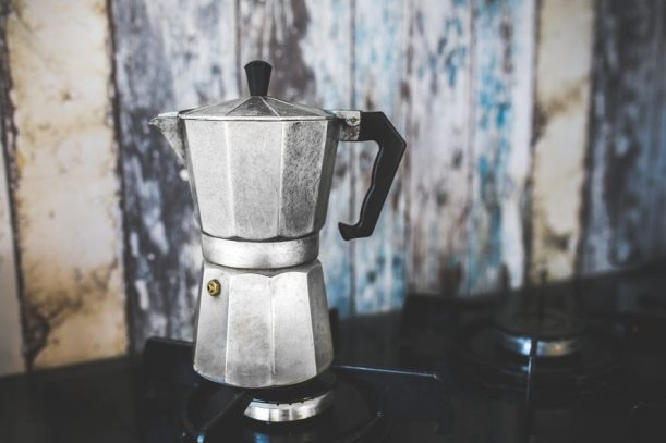 coffee maker, moka, coffee, make coffee, outdoors, camping, campsite, backcountry