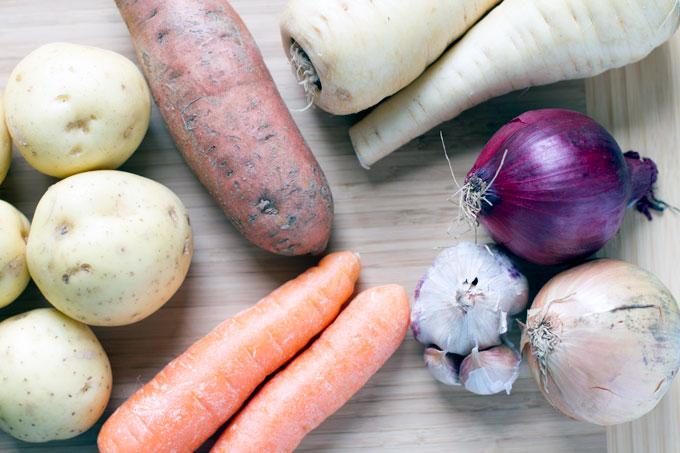 vegetable mash raw ingredients