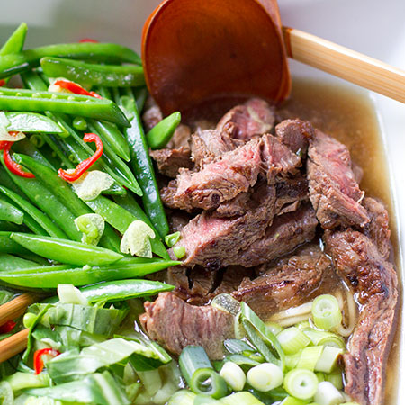 Beef and Ginger Noodle Soup