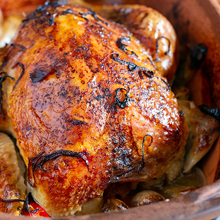 Roast lemon Chicken with Garlic and Chilli