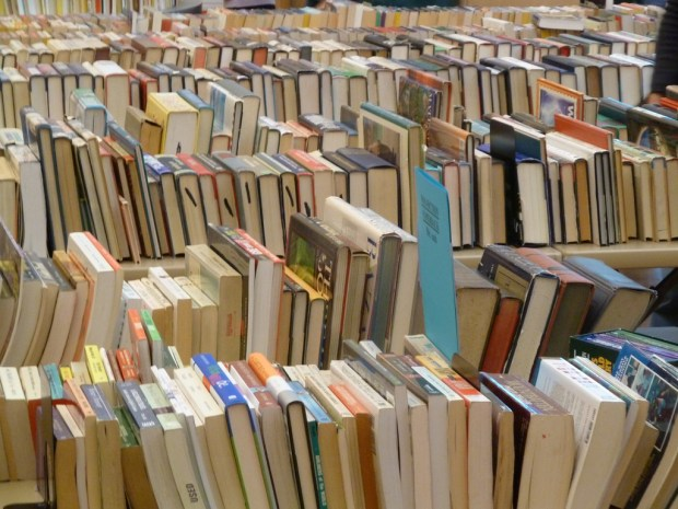 This is not our used book sale, but a similar one.