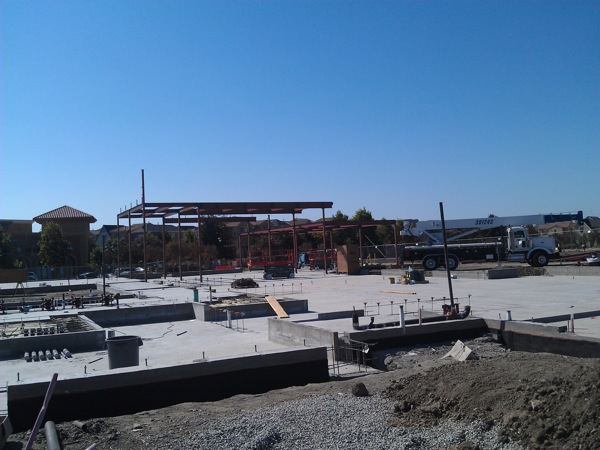 Northside Library Construction image with steel in place