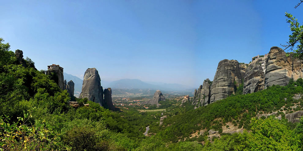 A view of Meteora, Greece