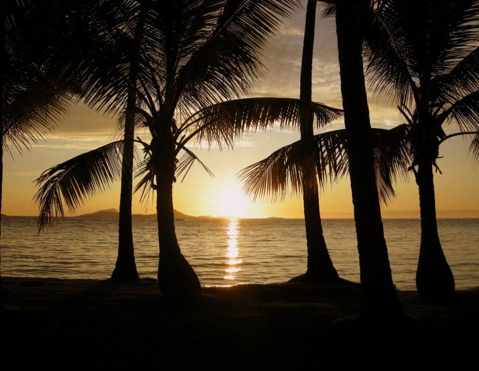 Sunset on Chuuk