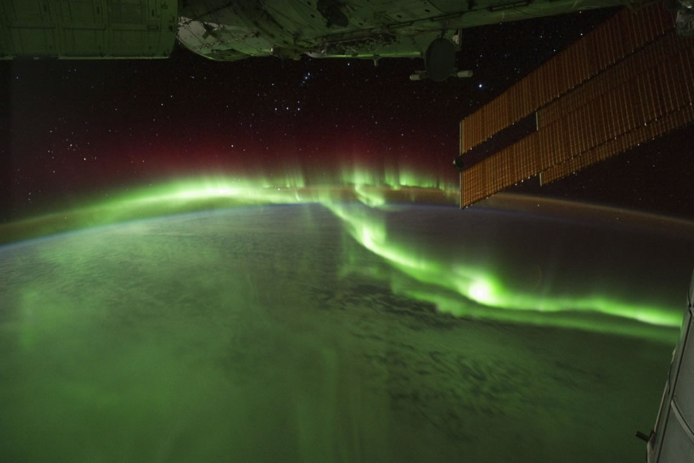 View of Aurora from ISS