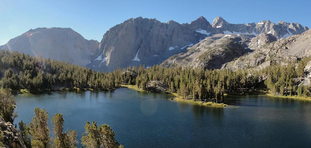 Palisades from Big Pine Lakes Fourth Lake