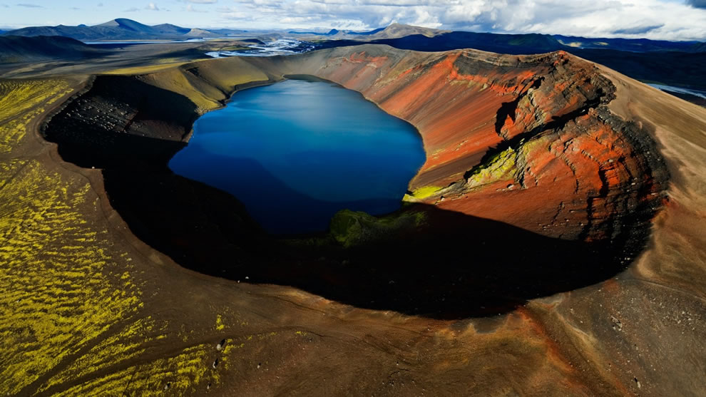 Arctic Volcanic Crater Lake