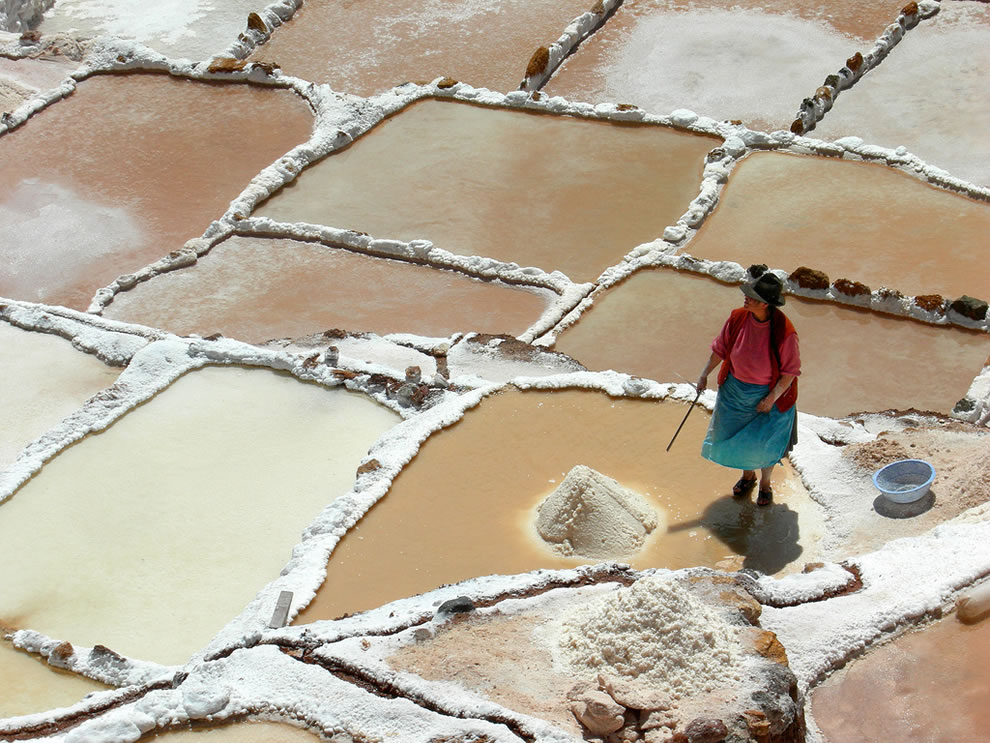 Salt Pans during August, Maras, Peru