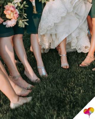 flache Schuhe für Hochzeitsgäste