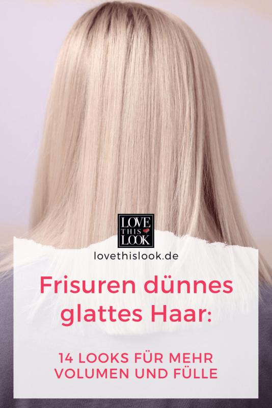 Frisuren dünnes glattes Haar