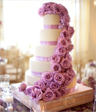 Beautiful Flower Wedding Cake Pictures  Photos  and Images for     Beautiful Flower Wedding Cake