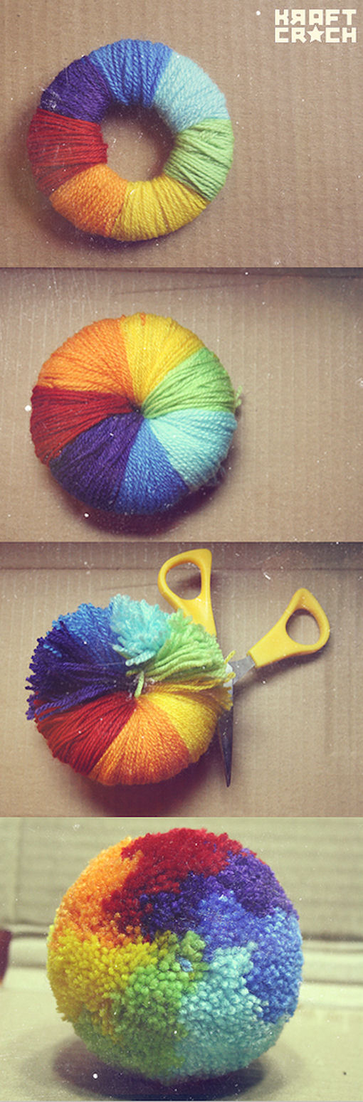 DIY Rainbow Pom Poms Pictures Photos And Images For