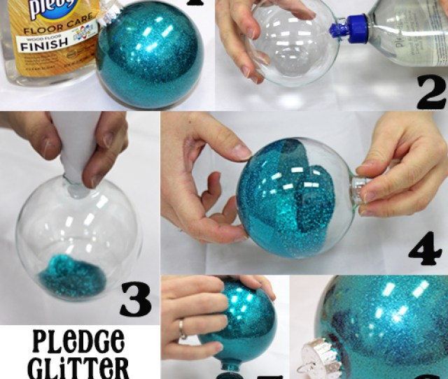 Diy Pledge Glitter Ornament